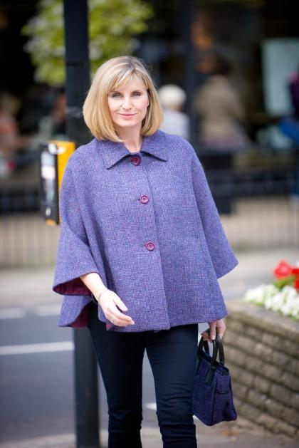 Coralie Ladies Cape Jacket in Harris Tweed - £210.00
