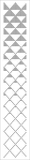 Gallery punch cards for knitting machines 3 and Class 5 (SILVER REED, BROTHER) with 24 loops rapport