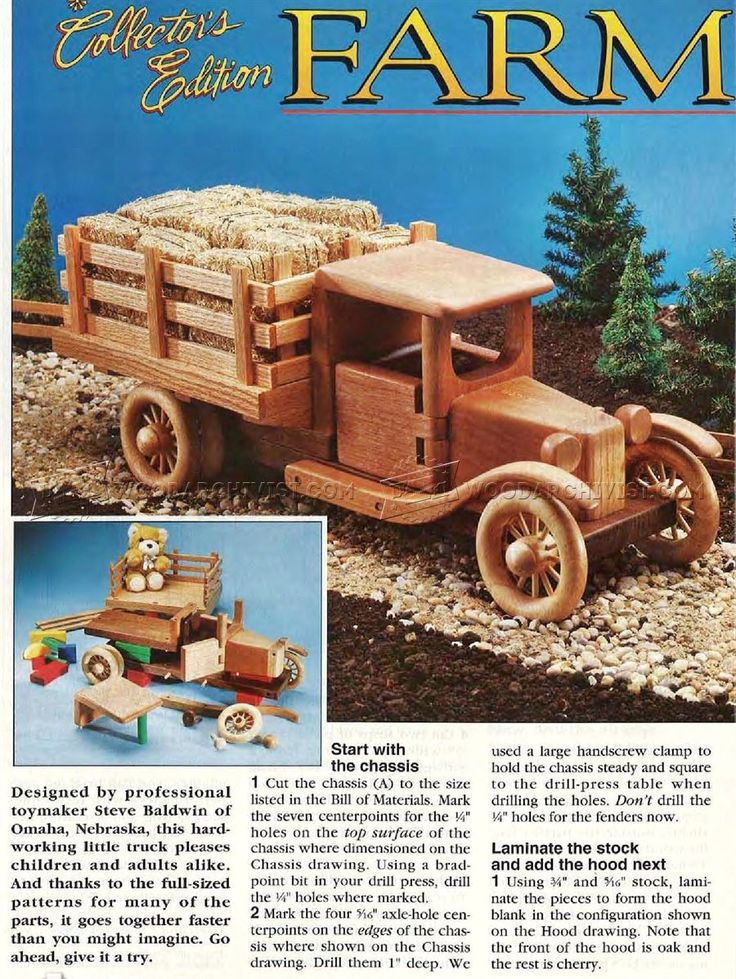 #2448 Wooden Toy Truck Plans - Wooden Toy Plans