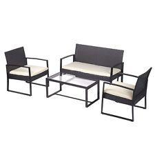 4 PCS Outdoor Patio Sofa Set Sectional Furniture PE Wicker Rattan Deck 40 Black (scheduled via http://www.tailwindapp.com?utm_source=pinterest&utm_medium=twpin&utm_content=post192173509&utm_campaign=scheduler_attribution)