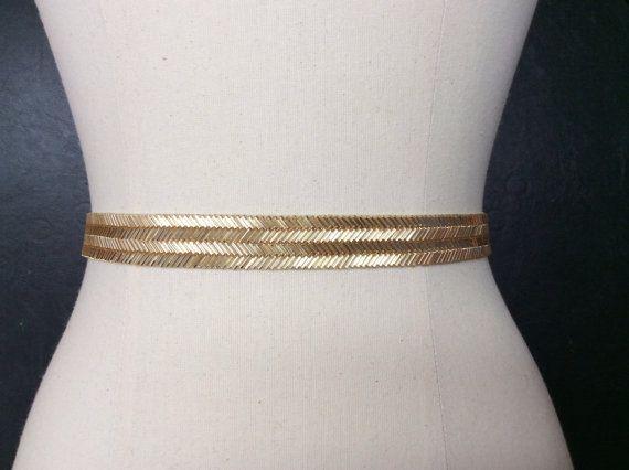 Bridal Belt Gold Wedding Sash Thin Gold Belt. by BestFriendBridal