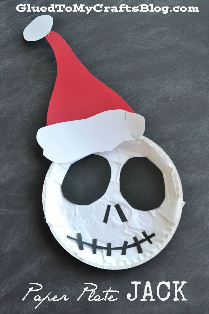 The Nightmare Before Christmas - Paper Plate Jack Kid Craft
