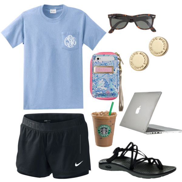 """College campus studies"" by hannahhopefrance on Polyvore-----This pin was found under the ""Women's Fashion"" section... It kills me inside that people need a pin to know how to look comfy! COME ON!"