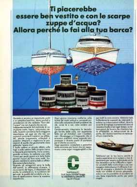 1990 / Ti piacerebbe essere ben vestito e con le scarpe zuppe d'acqua? Allora perché lo fai alla tua barca?