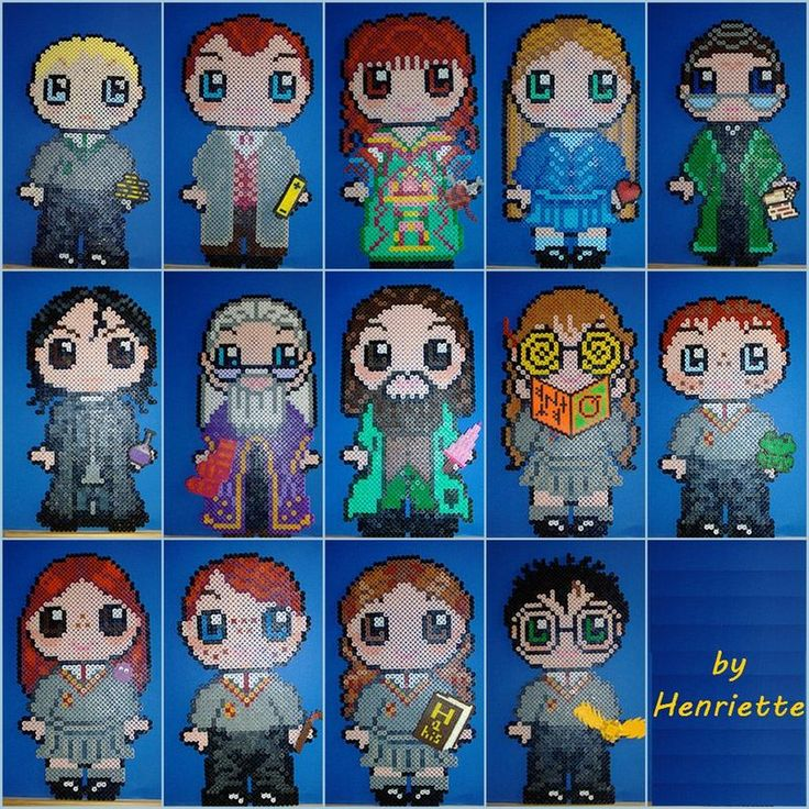 Harry Potter characters hama beads by Henriette
