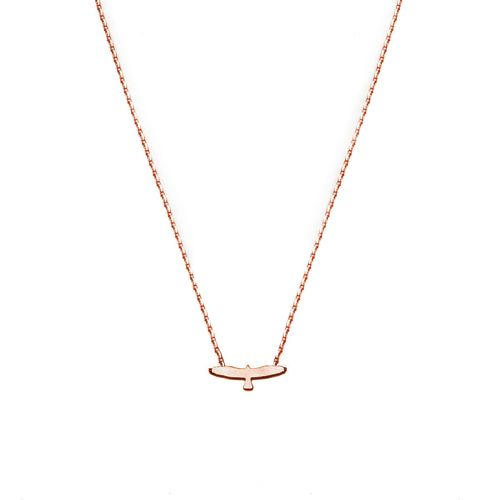 EAGLE NECKLACE ROSE GOLD | Flor Amazona