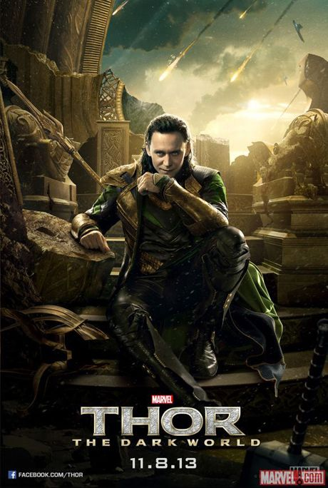 Marvel reveals new Loki poster for Thor 2. I need this,but I'd have to put it in my daughter's room so my hubby doesn't know I've quite lost my mind. Lol