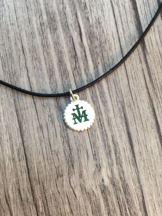 Marian Milgrain Cross Green Necklace, RCIA,First Communion, Confirmation, Religious, Personalized necklace, Baptism, Friendship,Promise gift