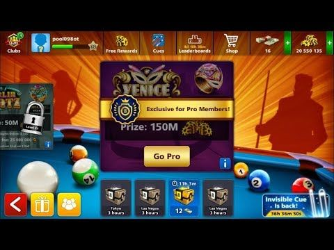 8 Ball Pool Free Account Giveaway Level 12 Cash 16 20