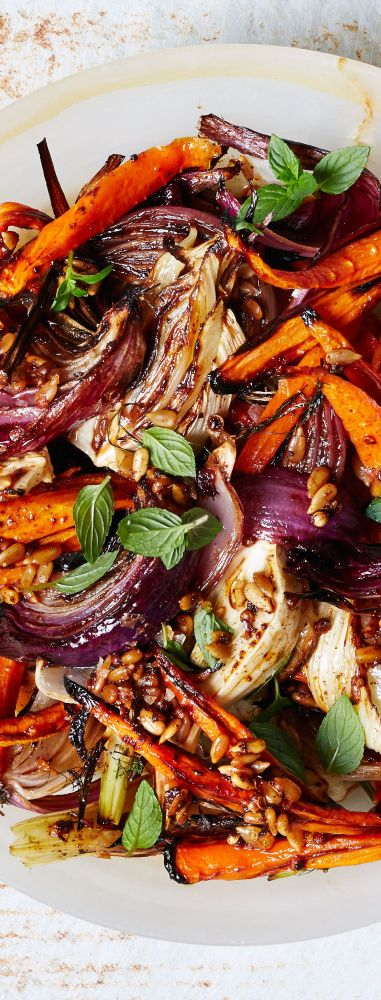 Roasted Carrot and Red Onion Salad recipe: The dressing is the start of this, no doubt.