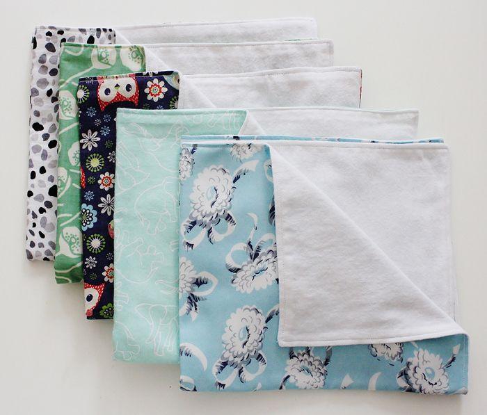 Diy Cloth Pads Tutorial: Diy Fat Quarter Burp Cloth Tutorial