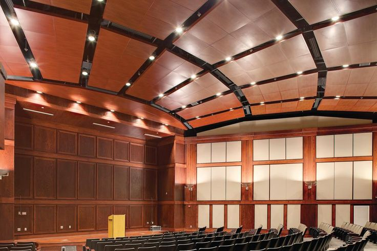 ceiling sound absorption panels auditorium  Google Search  TN High Auditorium  Acoustic wall