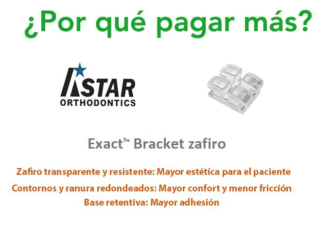 Exact Bracket Zafiro de @AstarOrthodontics