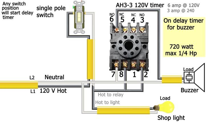 Ah3 3 On Delay Timer Timer Electrical Diagram Electrical Installation