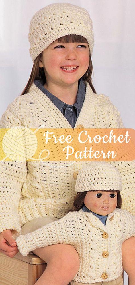 499ad5a20 ARAN LOOK SET  CROCHET FREE PATTERNS   freecrochetpatterns  crochet ...