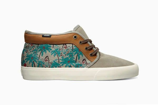 These Vans Camo Shoes Bring a Tropical Twist to Canvas Shoes trendhunter.com