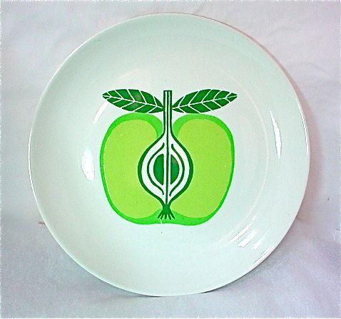 Vintage ARABIA FINLAND Kaj FRANCK Apple Plate Fruit Platter