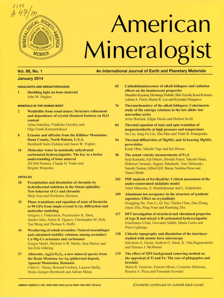 Публикации в журналах, наукометрической базы Scopus   American Mineralogist #American #Mineralogist #Journals #публикация, #журнал, #публикациявжурнале #globalpublication #publication #статья