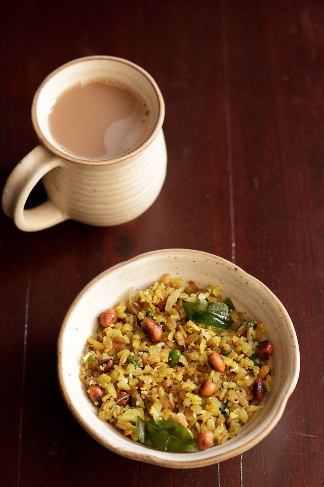 kanda poha or onion poha recipe, how to make kanda poha | kanda pohe