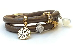 Endless Jewelry has added two new leather bracelet colors to the Jennifer Lopez Collection: this bronze metallic and a pearl metallic.