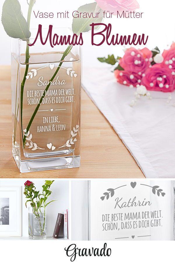 Vase mit Gravur - Beste Mama - personalisiert | MAMA | Geschenke für ...