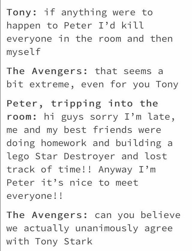Peter is a Cinnamon roll. He will be protected from everything physical and emotional.