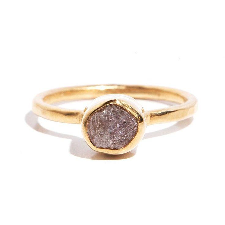 Melissa Joy Manning rough diamond ring