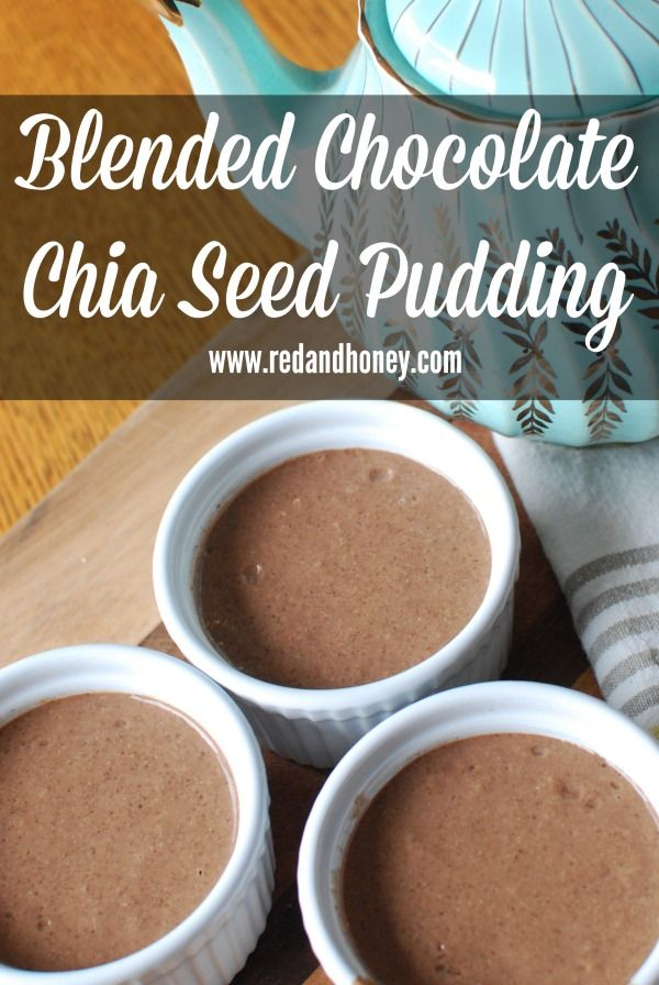 Easy, healthy and quick Blended Chocolate Chia Seed Pudding made with Silk Cashew Milk!