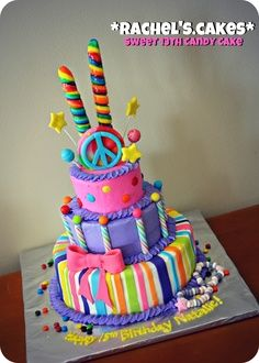 bright and beautiful girly cake candy cool groove
