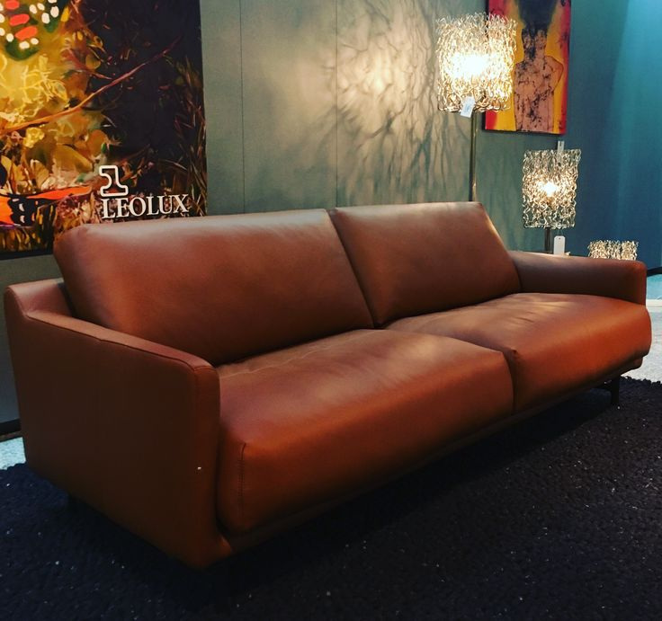 Leolux Azzurro Sofa (Cuno Frommherz, 2015) and Brand van Egmond Hollywood Lights (William Brand, 1996)
