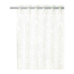 """BORGHILD Sheer curtains, 1 pair - IKEA- can cut into 9"""" strips for runners for table and will only need one set!"""