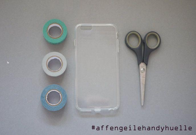 material handyhülle selbst gestalten mit washi tape