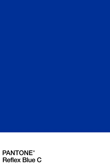 pantone  reflex blue