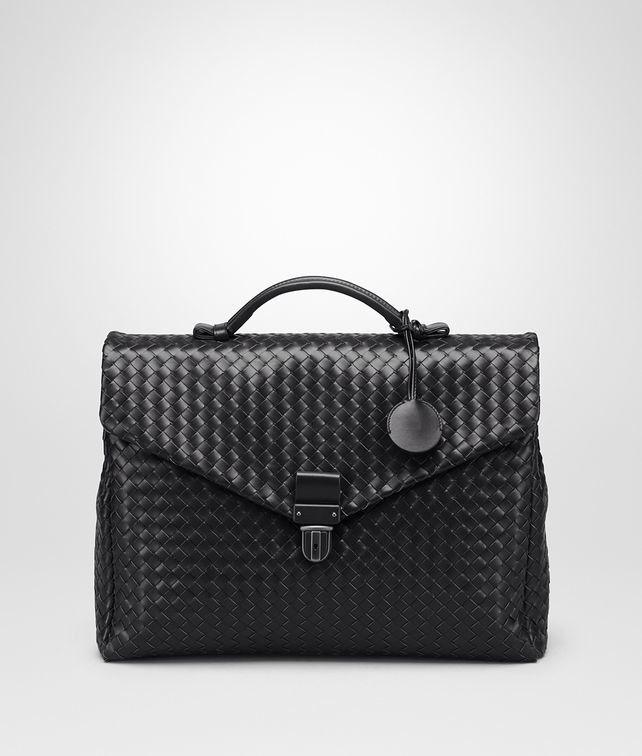 Nero Intrecciato Small Briefcase