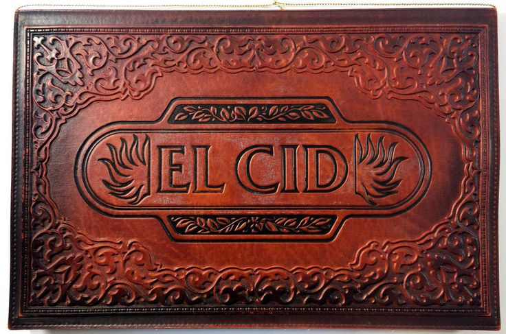 1982 Thick Leather Menu EL CID Restaurant Walt Disney World Hotel Royal Plaza FL