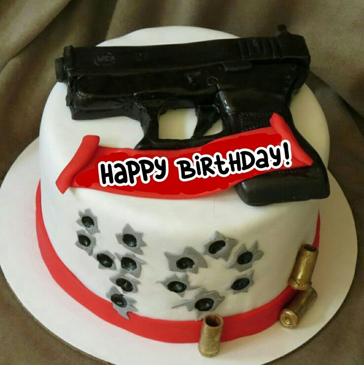 12 Best Gun Cakes Images On Pinterest Gun Cakes