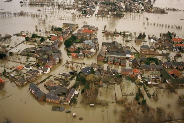 Itteren, Maastricht, Netherlands flooded in 1995.