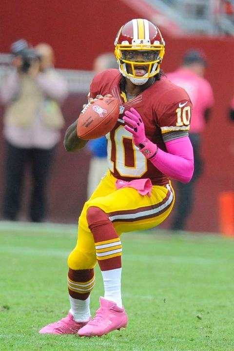 #Redskins QB Robert Griffin III during the Falcons vs. Redskins game. (I was there!)