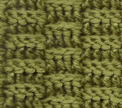 Basket weave pattern. If you like to crochet, this is a really fun and moderately easy pattern to learn.