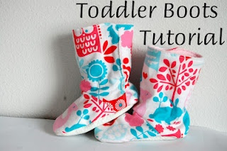 Toddler Boots Tutorial from Mommy to a Little Ladybug (could be adapted for grownup feet!)