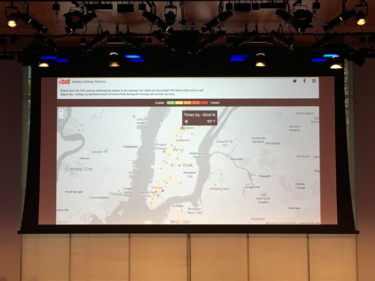 "John Keefe (WNYC Data News Team) WNYC design mission is ""Useful, playful, and NYC-centric"". Featured visualization projects include ""Subway agony index"", ""Ice cream finder"", ""Vaccination rate finder"", ""NYC stock photos"". #socialimpact, #datajournalism"