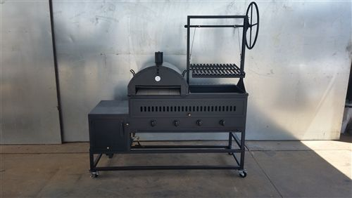 Wood/Charcoal/Gas Hybrid Grill 4