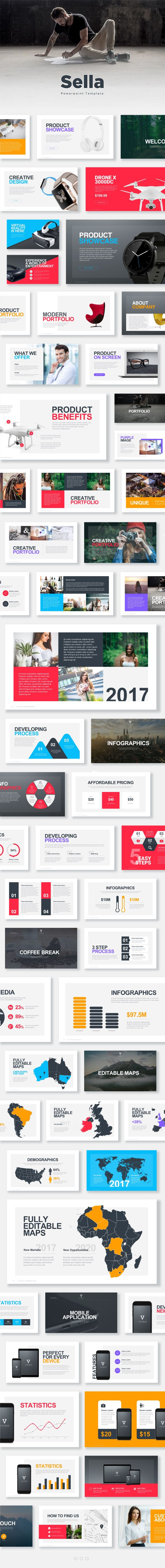 Sella Powerpoint Template #presentation #modern • Download ➝ https://graphicriver.net/item/sella-powerpoint-template/18036459?ref=pxcr