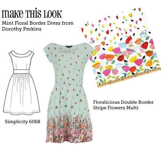Easy to sew mit dem Viskose Elasthan Jersey von www.Stoff-Schmie.de Mint Floral Border Dress - sewweekly.com