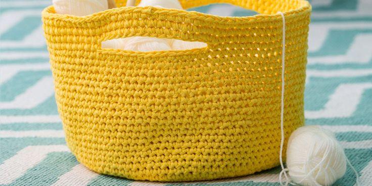 tuto crochet panier DIY