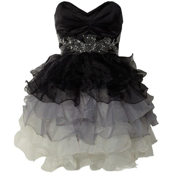 Lipsy V I P Prom Embellished Dress  liked on Polyvore