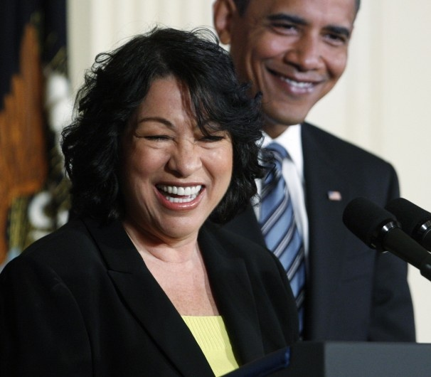 Supreme Court Justice Sonia Sotomayor. Sonia Sotomayor, the first Hispanic woman to serve on the high court, succeeded the retiring David Souter in 2009.