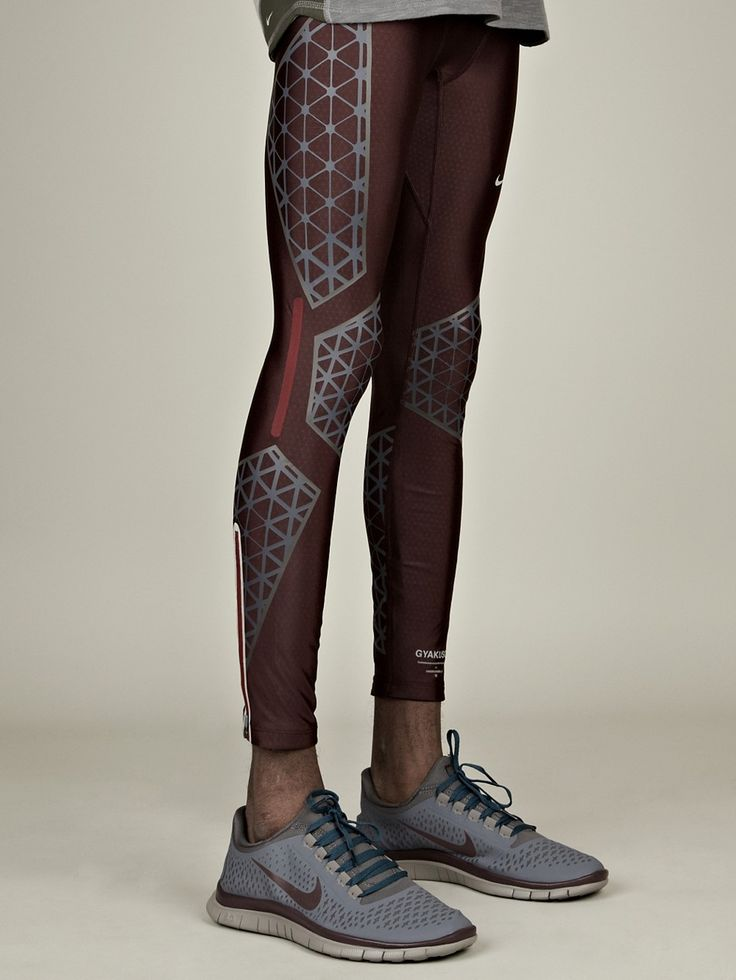 Nike Gyakusou Men's Swift Long Leggings in deep burgundy at oki-ni