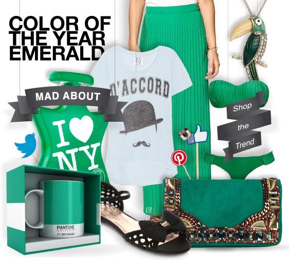 #Emerald - shopthemagazine.com #pantone #coloroftheyear # 2013 #green