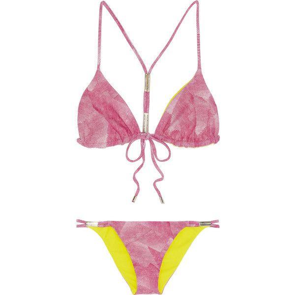 Shimmi Tiga reversible triangle bikini found on Polyvore